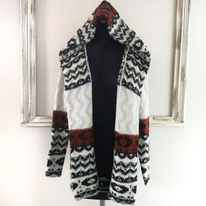 Aztec Ambercombie & Fitch Wool Hooded Cardigan